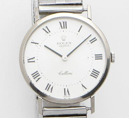Rolex. An 18ct gold manual wind bracelet watchCellini, Ref:4112, Case No.4334827, Circa 1975