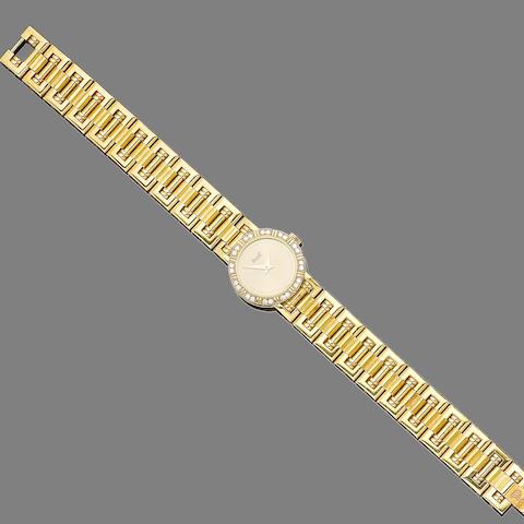 A diamond-set wristwatch, by Piaget