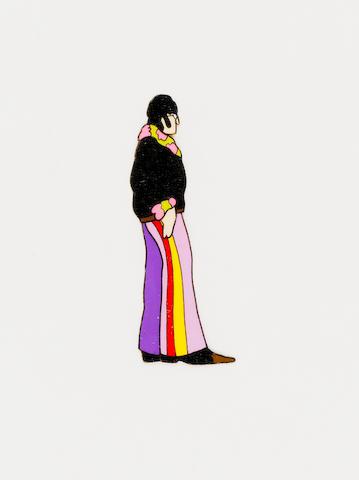 A 'Yellow Submarine' cartoon cel of John Lennon, King Features, 1968,