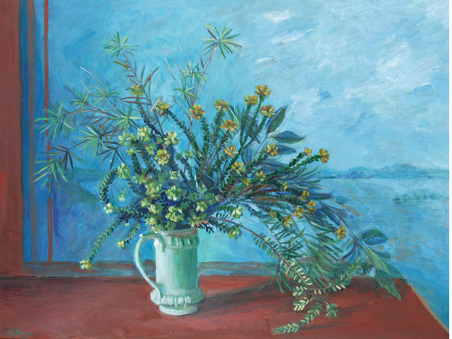 Margaret Olley (1923-2011) Native Flowers and Jug