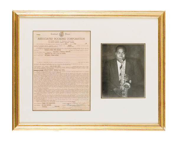 A Charlie Parker concert contract, 1950,