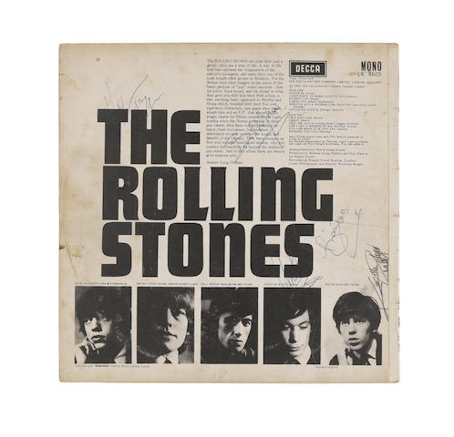 An autographed copy of the Rolling Stones' eponymous debut album, 1964,