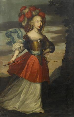 Studio of Jean Nocret (Nancy 1615-1672 Paris) Portrait of a young lady, full-length,