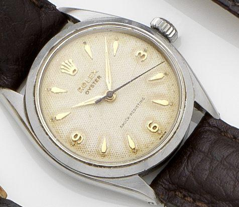 Rolex. A stainless steel automatic wristwatch Oyster, Ref:6480, Case No.95570, Movement No.90081, Circa 1955