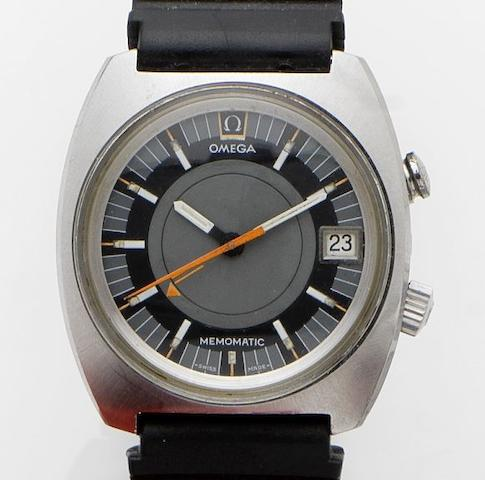 Omega. A stainless steel calendar alarm automatic wristwatchMemomatic, Ref:166.072, Movement No.31333501, Circa