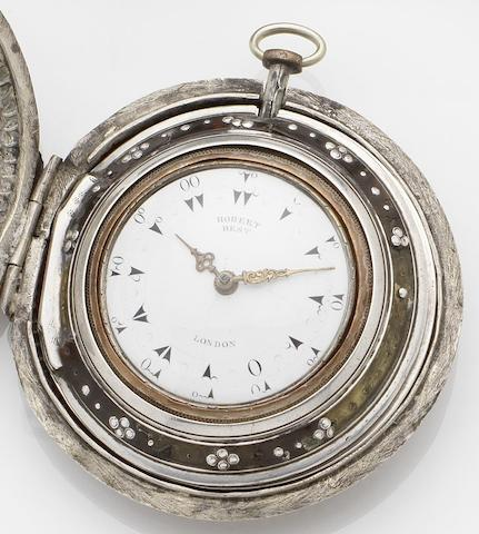 Robert Best. A triple cased silver pocket watchNo.1184, Circa 1825