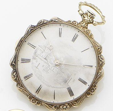 Le Roy. A continental gold and enamel key wind open face pocket watch Paris, No.8517, Circa 1880's