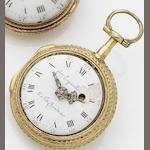 Freres Esquivillon & De Choudens two colour open face pocket watchCirca ??