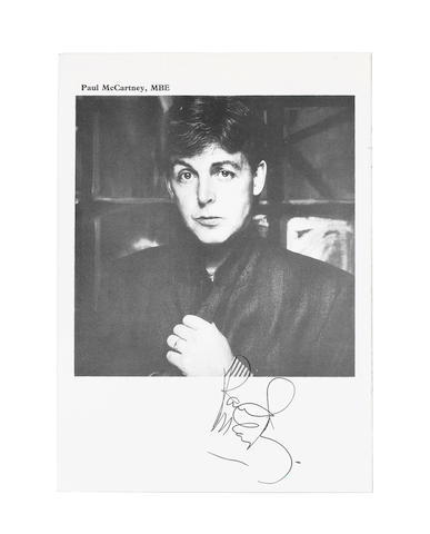 An autographed programme for the 'Conferment Of Honorary Freedom Of The City Of Liverpool Upon Paul McCartney M.B.E.', 28th November 1984,
