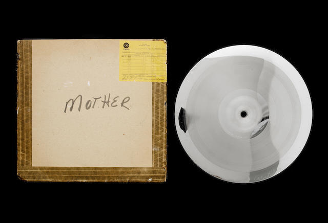 An original metal 'mother' pressing plate for John Lennon's album 'Imagine', 1971,