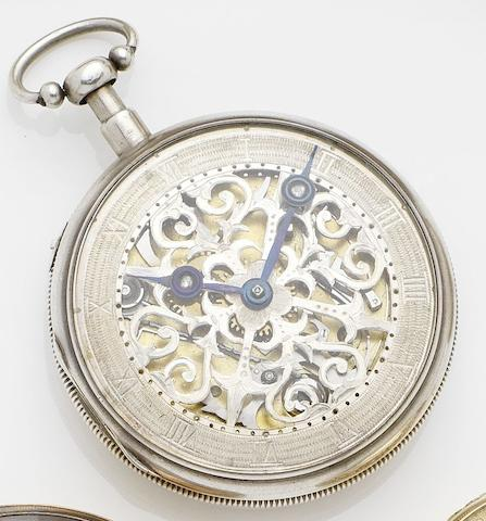 A Houriet & Fils. A mid 19th century silver quarter repeating pocket watchNo.15680, Circa 1850