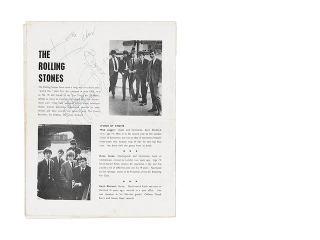 An autographed 'All Stars '64' concert programme,  1960s,