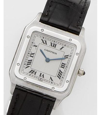 Cartier. A platinum manual wind wristwatch Panthere, Case No.CC293308, Sold 8th September 1997