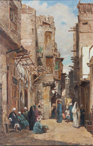 """John Varley Jnr. (British, 1850-1933) """"Cairo"""" 48.5 x 33.5cm."""