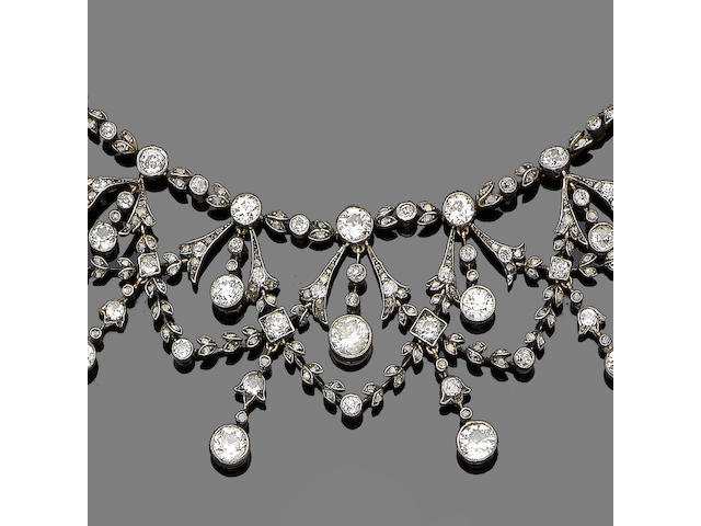 A diamond garland necklace