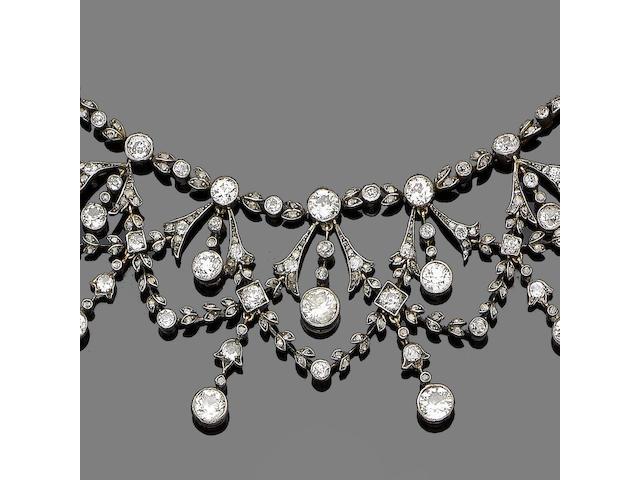 A diamond garland necklace