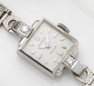 Rolex. An 18ct white gold lady's bracelet watch Ref:8914, Case No.447635, Circa 1960's