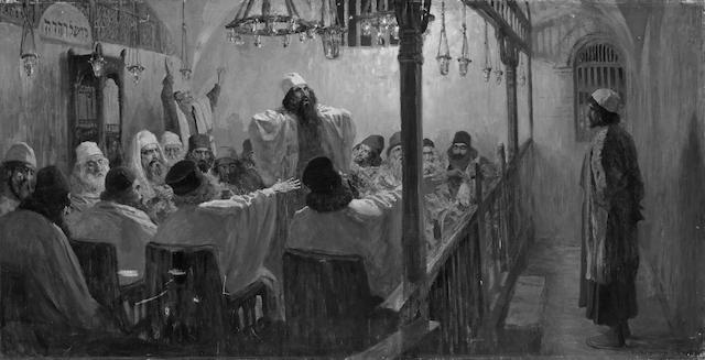 Vasilii Dmitrievich Polenov (Russian, 1844-1927) 'He is guilty of death', 1906