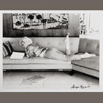 George Barris (American, born 1928) - 'Marilyn on the Sofa', 1962
