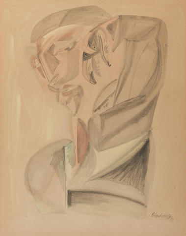 Robert Colquhoun (British, 1914-1962) Figure 48 x 37 cm. (18 7/8 x 14 9/16 in.)