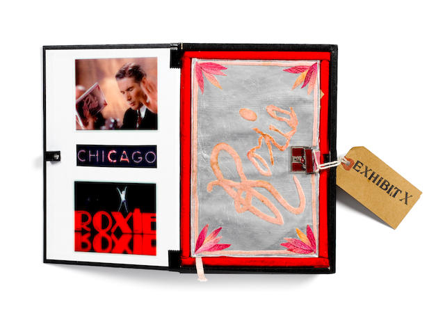 Chicago, 2002 'Roxie's Diary' prop, used by Richard Gere during the court scenes,