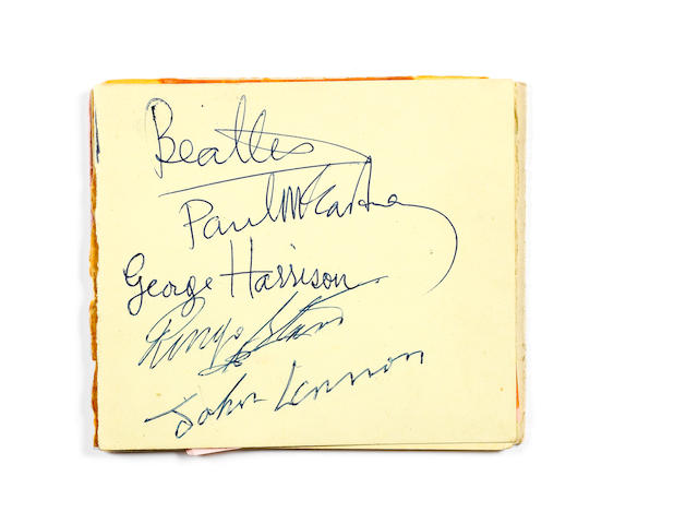 The Beatles: A set of autographs  circa 1963,