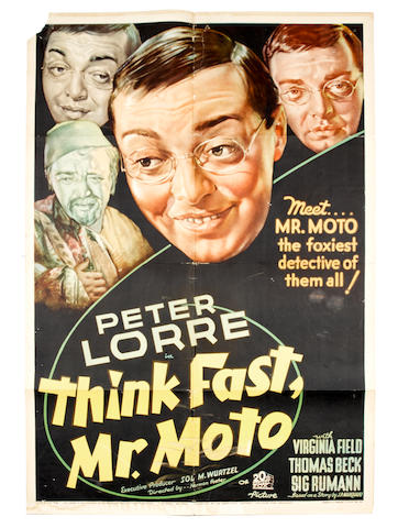 Think Fast, Mr. Moto,  20th Century Fox, 1937,