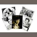 Vivien Leigh: An Angus McBean studio photograph/ press still, inscribed to reverse by Laurence Olivier,  together with a number of publicity stills and an autographed photograph,