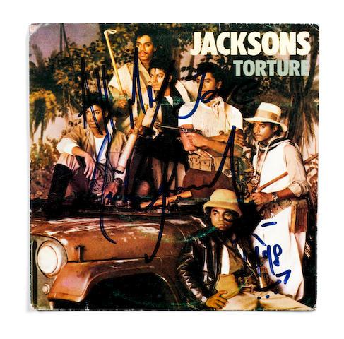 Michael Jackson: An autographed Jacksons' single, 'Torture',