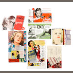 Greta Garbo: A collection of sixteen 1920s - 1940s heralds/ flyers, titles including:16