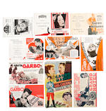 Greta Garbo: A collection of sixteen 1920s - 1940s heralds/ flyers
