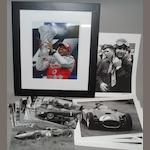 Assorted Motorsport photographs and photographic prints