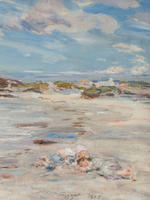 William McTaggart, RSA RSW (British, 1835-1910) A summer's day, Bay Voyach 46.5 x 81 cm. (18 5/16 x 31 7/8 in.)