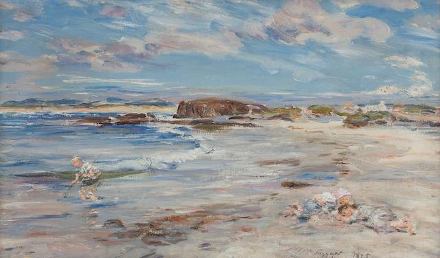 William McTaggart, RSA RSW (British, 1835-1910) A summer's day, Bay Voyach 46.5 x 81 cm. (18 5/16 x 31 7/8 in.)