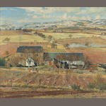 James McIntosh Patrick RSA ROI ARE LLD (British, 1907-1998) The Sidlaws from Birkhill 63.5 x 76.5 cm. (25 x 30 1/8 in.)