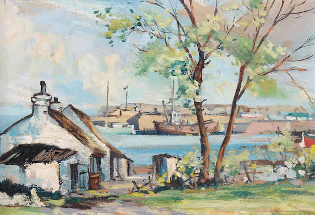 Kenneth Webb (Irish, born 1927) 'Cockle Row, Groomsport'