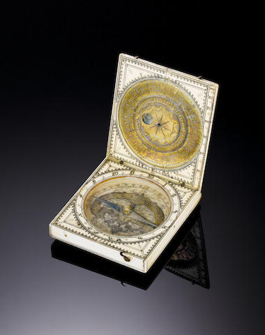 A Jacques Senecal ivory magnetic azimuth sundial, French, circa 1660,
