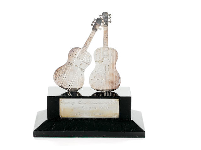 Johnny Cash: An Award for Male Singer from The International Festival of Country and Western Music, Wembley, 1970,  manufactured by Garrard & Co. Ltd.,