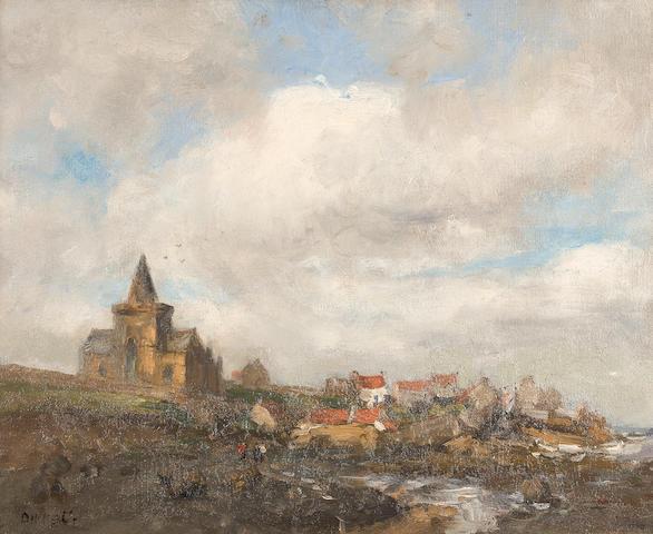 Eugen Dekkert (German, 1865-1956) St Monan's, Fife 41 x 51 cm. (16 1/8 x 20 1/16 in.)