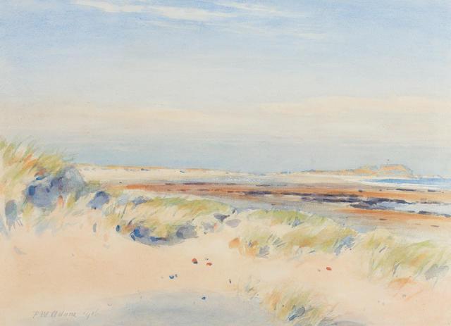 Patrick William Adam, RSA (British, 1854-1929) Fidra and the Sands 38 x 53 cm. (14 15/16 x 20 7/8 in.)