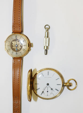 A pocket watch and a wristwatch,
