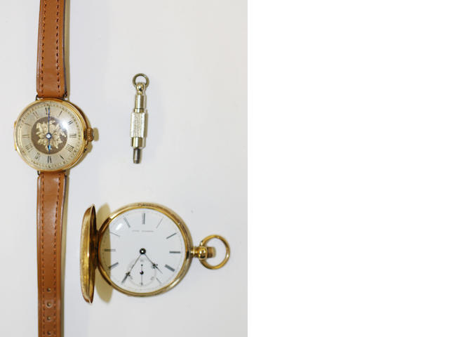 A pocket watch and a wristwatch