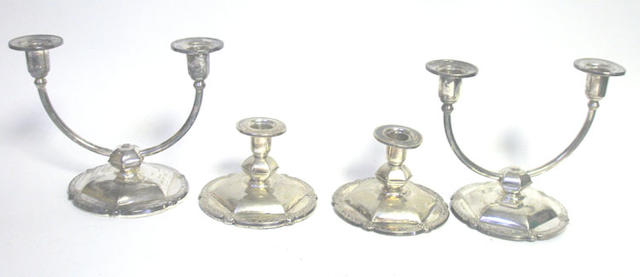 A quantity of Continental silver items,  (Qty)