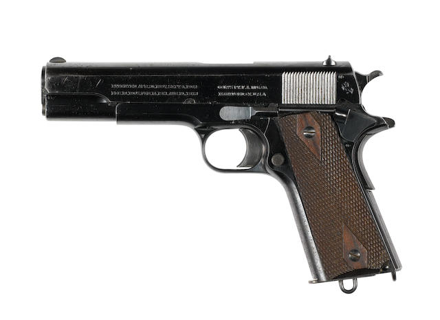 A fine .455 (Eley) 'Model 1911' semi-automatic pistol by Colt, no. W29124