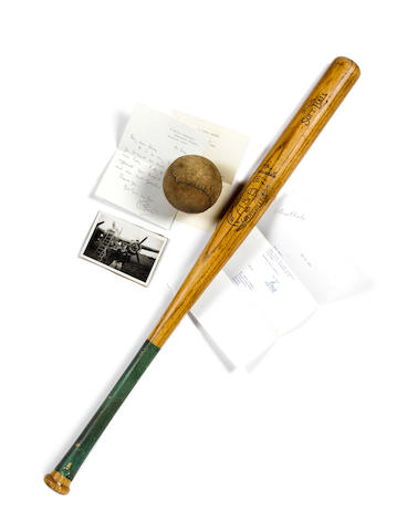 "Way To The Stars (aka Johnny In The Clouds), 1945 : A Louisville ""slugger"" baseball bat and ball used in the film, 6"
