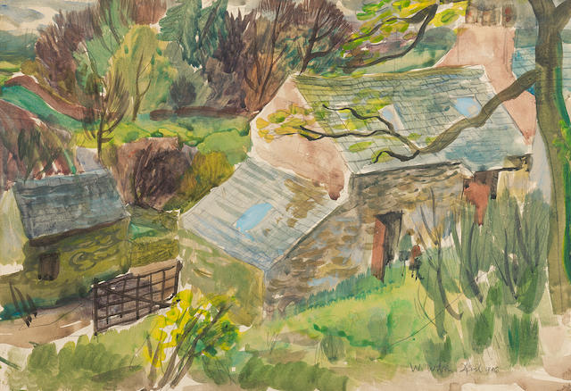 William Wilson, OBE RSA RSW (British, 1905-1972) 27 x 40 cm. (10 5/8 x 15 3/4 in.)