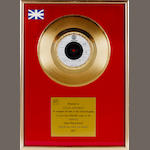 Status Quo: A BPI 'Gold' Award, for the single 'Rocking All Over The World',