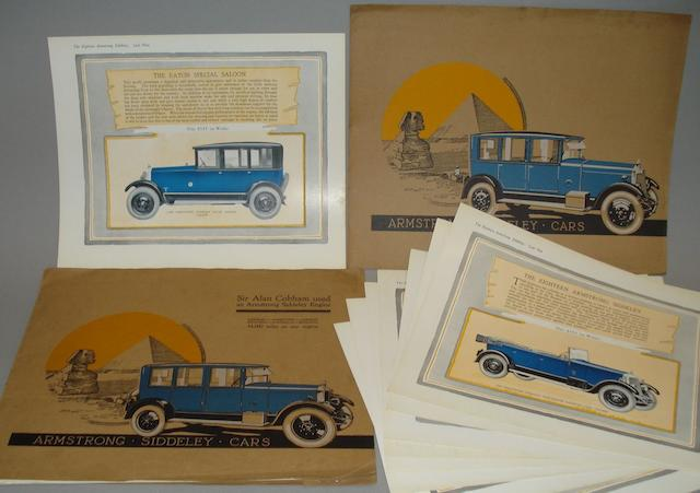 Two Armstrong Siddeley folders