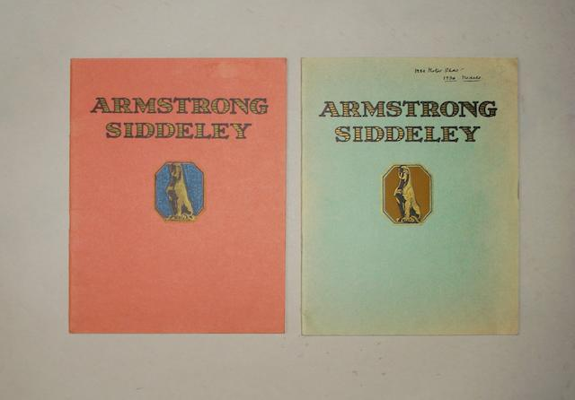 Two Armstrong Siddeley sales brochures