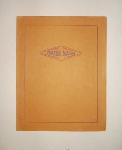 Frazer nash light cars brochure